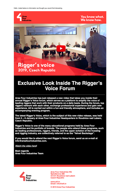 Riggers Voice 2019